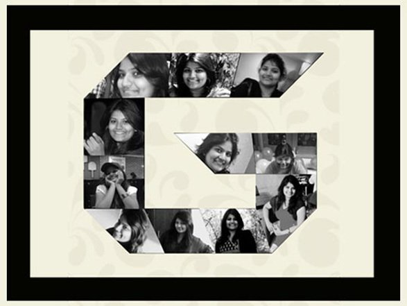 Personalised Photo frame gift with pictures and alphabet