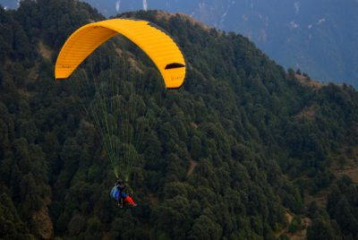 Paragliding in the Clouds