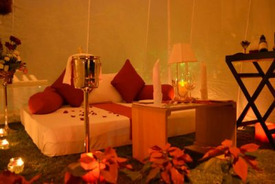 Cabana, Candles and Cushions