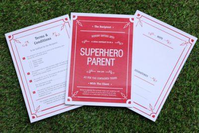 SuperHero Parent Contract