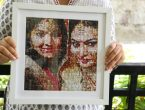 Mosaic photo frame gift for wife