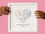 Mapping hearts customized frame