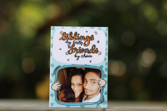 customised magnet for sibling