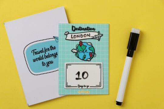 Travel count down magnet