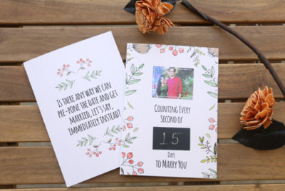 Wedding Countdown Card