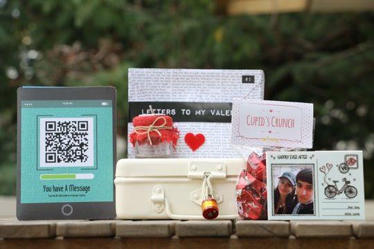 Valentines day hamper locked with code