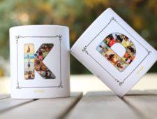 Custom Letter Mugs