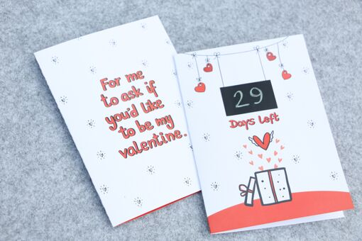 Valentines day countdown greeting card