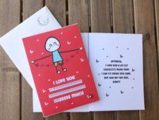 Lit Romantic Card