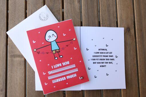 Romantic LED greeting card
