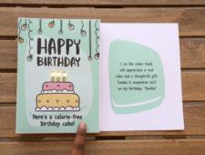 Lit Birthday Card
