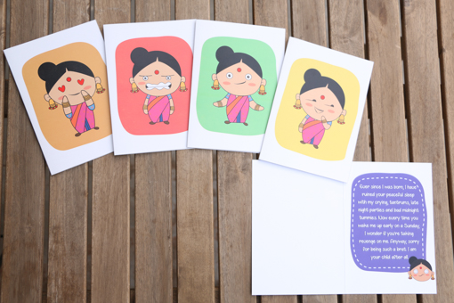 Indian Mom Emoji Cards Best Mother S Day Gift And