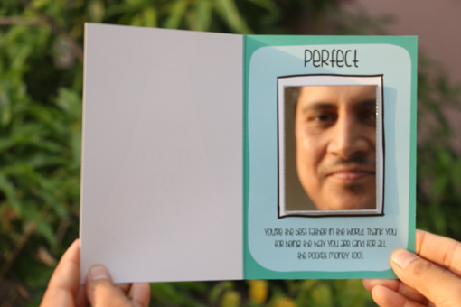 mirror greeting card for dad
