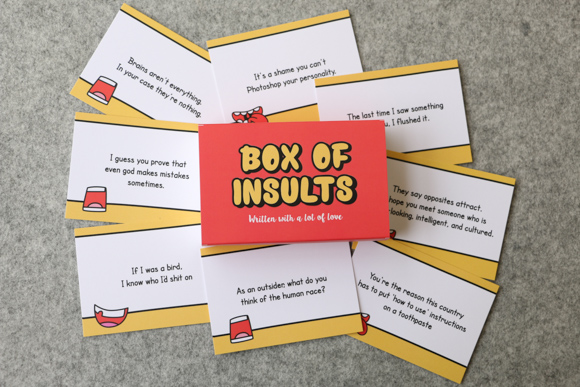 Box Of Insults Best Friendship Day Gift And Surprise In