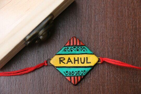 Terracotta name rakhi