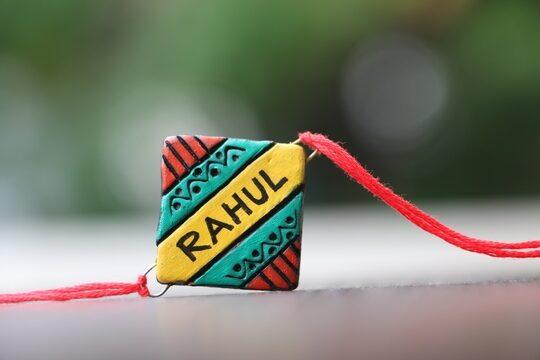 Customised name rakhi gift hamper