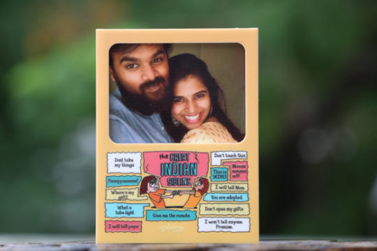 personalised photo magnet for sibling