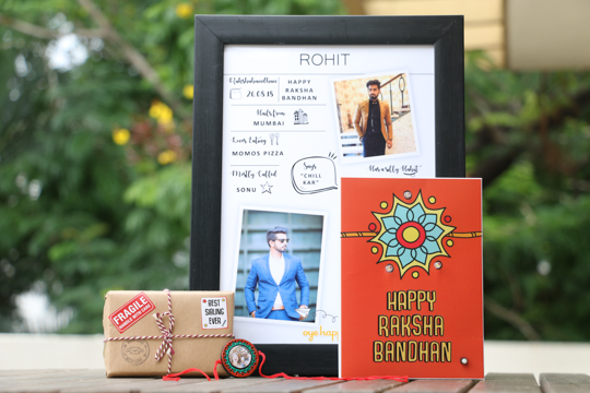 Customised rakhi gift hamper for brother