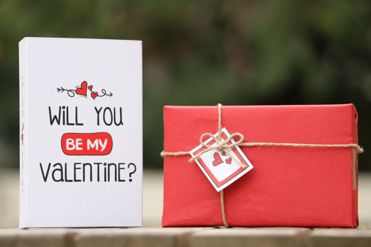 Ask someone to be your valentine with this proposal gift box