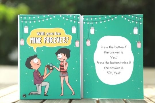 Unique proposal greeting card