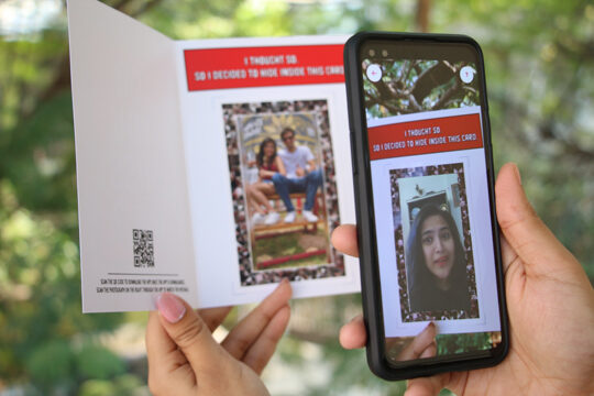 Video greeting gift for long distance relationship